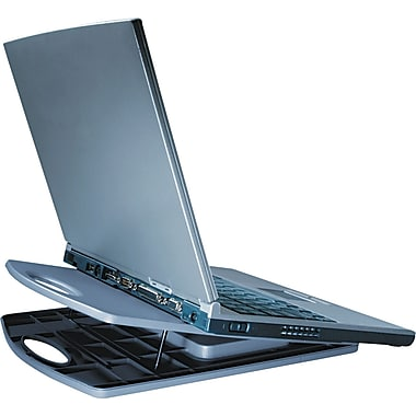 Kensington ® LiftOff Portable Notebook Cooling Stand, 1/2in.(H) x 9 3/4in.(W) x 12 1/4in.(D), Gray