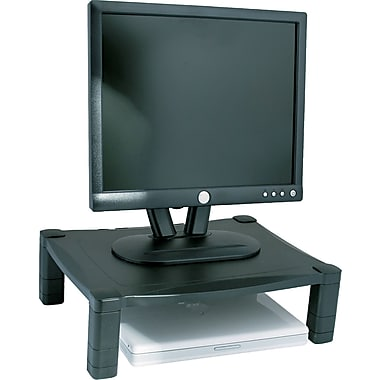 Kantek MS400 Adjustable Monitor Stand Single Level for 60 lbs. Monitor, Black