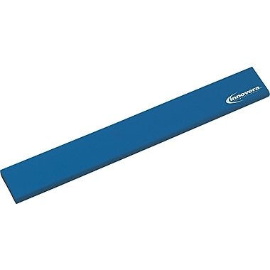 Innovera® Natural Rubber Keyboard Wrist Rest, Blue, 2 1/2in.(D)