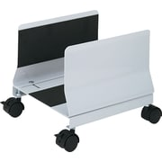 Innovera® Metal Mobile CPU Stand, Light Gray, 9 3/4(H) x 10 1/4(W) x 10 5/8(D)