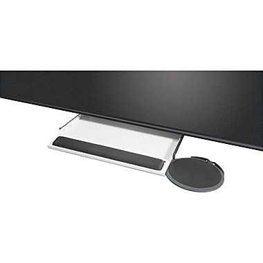 Kelly Computer Underdesk Keyboard Tray With Oval Mouse Platform , Black