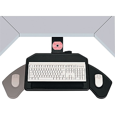 Ergonomic Concepts Boomerang Board Corner Workstation Platform, Black, 22 1/2in.(W) x 13 1/2in.(D)