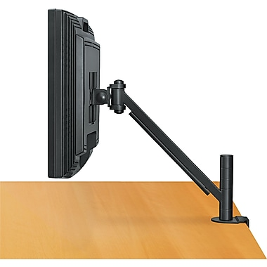 Fellowes ® Designer Suites Flat Panel Monitor Arm, Black, Up To 21in. Monitor, 20 lbs.