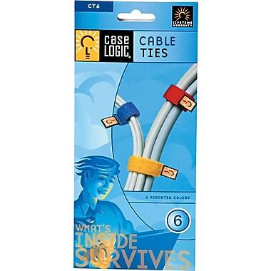 Case Logic ® Non Conductive Nylon Computer Cable Tie, Assorted