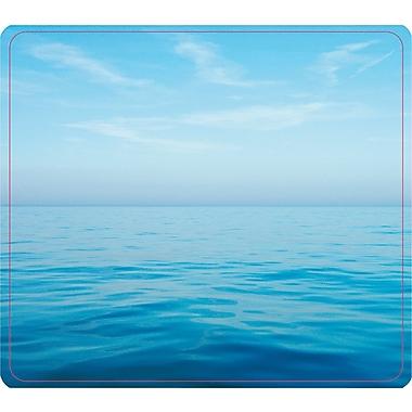 Fellowes® Recycled Mouse Pad, Nonskid Rubber Base, Blue Ocean, 7 1/2in.(D)