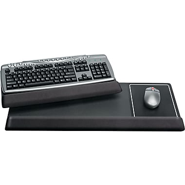 Kelly Computer Viscoflex Gel Extended Keyboard Wrist Rest, Black, 11in.(D)