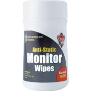 "Dust-Off ® Premoistened Monitor Wipe, Unscented, 6""(W) x 6""(L)"