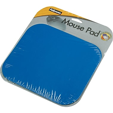 Fellowes ® Polyester Mouse Pad, Nonskid Rubber Base, Blue, 8in.(D)
