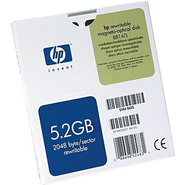 HP 5.25in. Worm Rewritable Magneto Optical (MO) Disk, 5.2 GB, 2048 Bytes/Sector