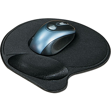Kensington ® Wrist Pillow ® Extra-Cushioned Mouse Wrist Rest, Black, 10 9/10in.(D)