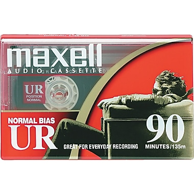 Maxell® UR Type I Normal Bias Dictation And Audio Cassette, 90 min (45 x 2)