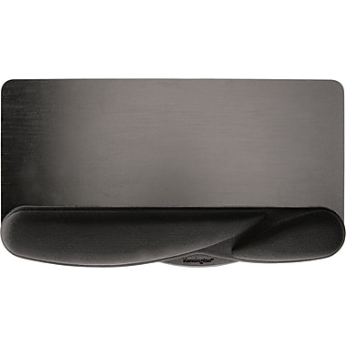 Kensington ® Wrist Pillow ® Polyurethane Foam Extra-Cushioned Keyboard Wrist Rest, Black, 10 1/2in.(D)