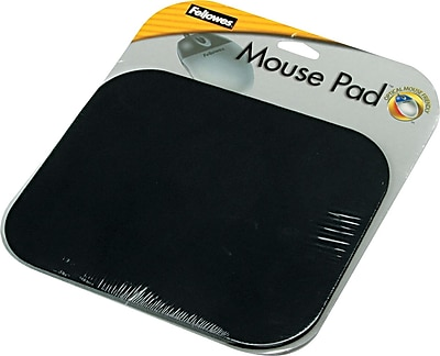 Fellowes Polyester Mouse Pad Nonskid Rubber Base Black 8 D