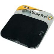"Fellowes® Polyester Mouse Pad, Nonskid Rubber Base, Black, 8""(D)"