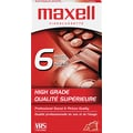 Maxell® Premium Grade VHS Video Tape  Cassette, 6 hrs