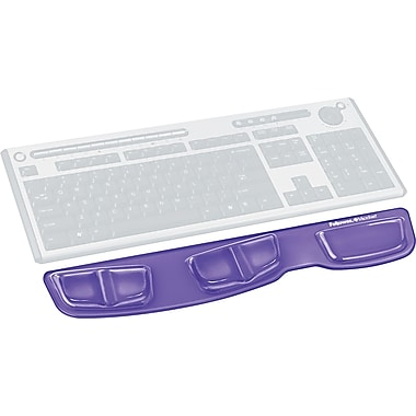 Fellowes® Gel Keyboard Palm Support, Purple, 3 3/8in.(D)