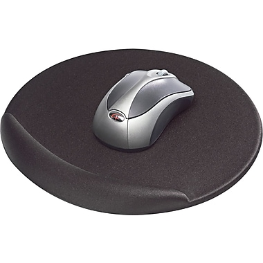 Kelly Viscoflex Memory Foam Oval Mouse Pad, Black, 8in.(D)