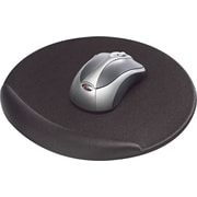 Kelly Viscoflex Memory Foam Oval Mouse Pad, Black