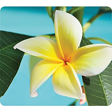 Fellowes® Recycled Mouse Pad, Nonskid Rubber Base, Yellow Flowers, 7 1/2in.(D)