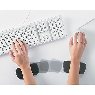 ComfortMakers® Memory Foam Rolling Wrist Rest, Black, 2 1/4in.(D)