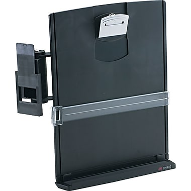 3M Two-Way Adjustable Holder, Black, 3in.(H) x 10 1/2in.(W) x 13in.(D), 35 Sheet Capacity