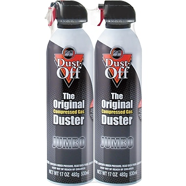 Dust-Off  Disposable Compressed Gas Duster, 17 oz. Can, 2/Pack