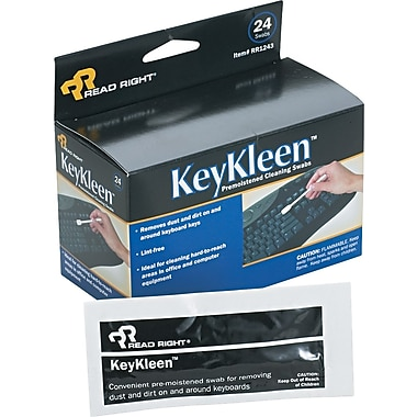 Read Right ® KeyKleen Keyboard Cleaner, Unscented, 24/Box