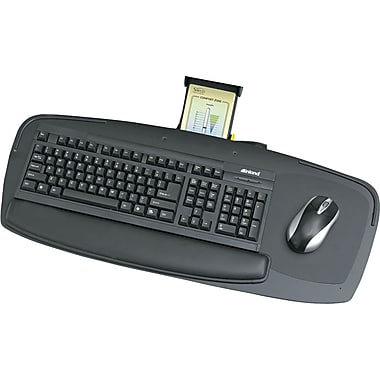Safco Premier Series Keyboard Platform, Black, 27