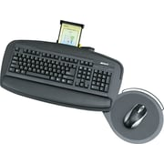 "Safco® Premier Series Keyboard Platform, Black, 21""(W) x 11 1/2""(D)"