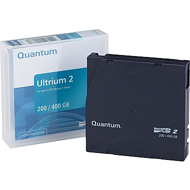 Quantum ® 1/2in. Ultrium LTO-2 Cartridge, 1998'(L), 200 GB Native/400 GB Compressed