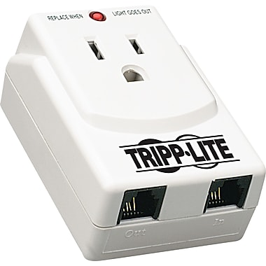 Tripp Lite Notebook Direct Plug-In Surge Suppressor, 1 Outlet, 540 Joules, Gray