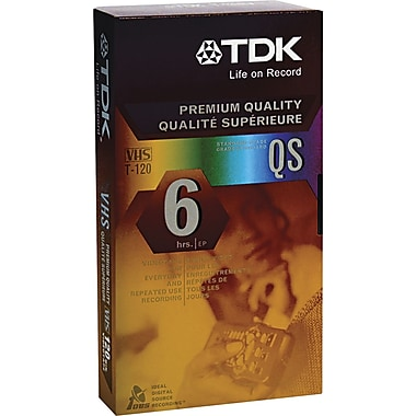 TDK High Grade Standard VHS Video Tape Cassette, 120 min