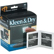 "Read Right® Kleen & Dry™ Wet/Dry Wipe, Unscented, 5""(W) x 5""(L), 40 Twin Packs/Box"
