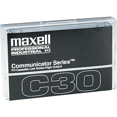 Maxell  Standard Normal Bias Dictation And Audio Cassette, 30 min (15 x 2)