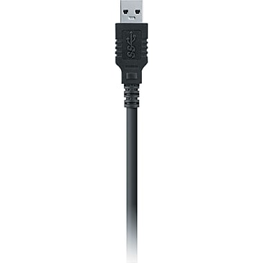 Belkin® USB 3.0 Cable Adapter, A To B, 6'(L), Black