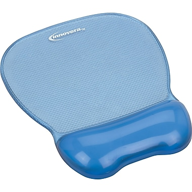 Innovera® Gel Mouse Pad With Wrist Rest, Blue, 9 5/8in.(D)