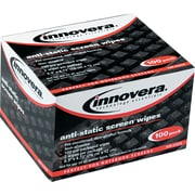 Innovera® Antistatic Screen Cleaning Wipe, Unscented, White, 4 3/4(W) x 6 1/4(L), 100/Pack
