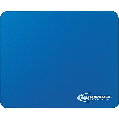Innovera® Natural Rubber Mouse Pad, Nonskid Base, Blue, 7 1/2in.(D)