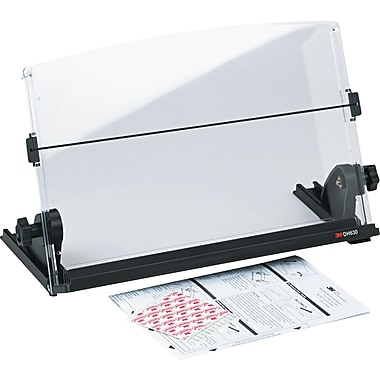 3M In-Line Document Holder, Black / Clear, 3in.(H) x 14in.(W) x 12in.(D), 150 Sheet Capacity