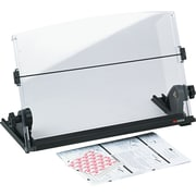 "3M Plastic In-Line Document Holder, Black / Clear, 3"" H x 14"" W x 12"" D, 150 Sheet Capacity (DH630)"