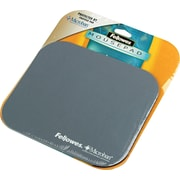 Fellowes  Polyester Mouse Pad, Nonskid Rubber Base, Graphite, 8(D)