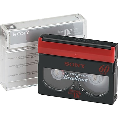 Sony® Premium Grade DVC Camcorder Video Tape Cassette, 60 min