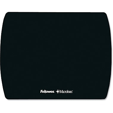 Fellowes® Ultra Thin Mouse Pad, Nonskid Base, Black, 7in.(D)