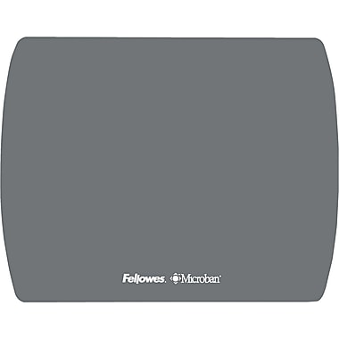 Fellowes® Ultra Thin Mouse Pad, Nonskid base, Graphite, 7in.(D)