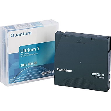 Quantum ® 1/2in. Ultrium LTO-3 Cartridge, 2200'(L), 400 GB Native/800 GB Compressed