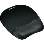 Fellowes® Memory Foam Mouse Pad With Wrist Rest, Black