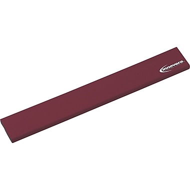 Innovera® Natural Rubber Keyboard Wrist Rest, Burgundy, 2 1/2in.(D)