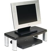 "3M Extra-Wide Adjustable Monitor Stand, Black, 5 7/8""(H) x 20""(W) x 12""(D), 40 lbs."