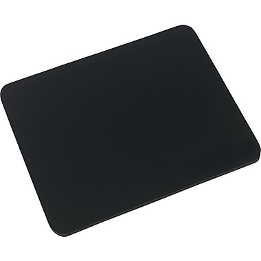 Innovera® Natural Rubber Mouse Pad, Nonskid Base, Black, 7 1/2in.(D)