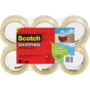 "Scotch® Greener Commercial-Grade Shipping Tape, 1.88"" x 49.6 Yards, 6/Pack"